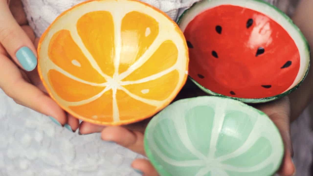 DIY clay fruit bowls from scratch