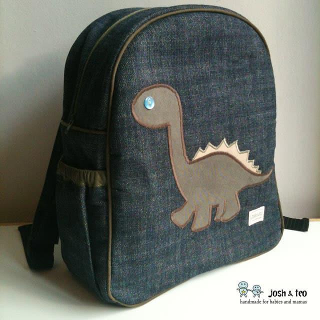 DIY dinosaur backpack