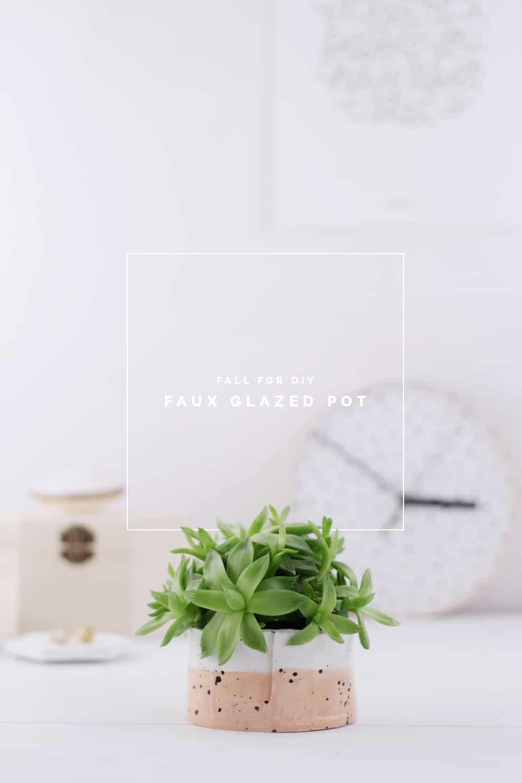 DIY faux glazed pots