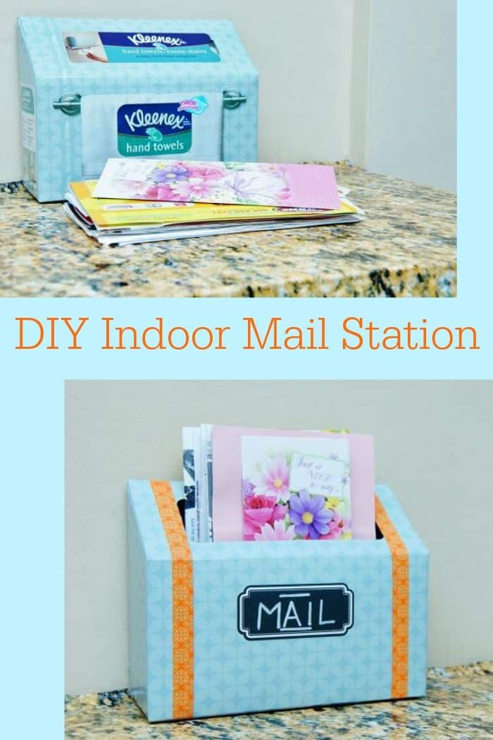 DIY indoor mail station 15 Cool Ways to Upcycle Tissue Boxes