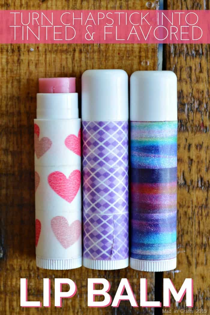 DIY tinted and flavoured lip balm