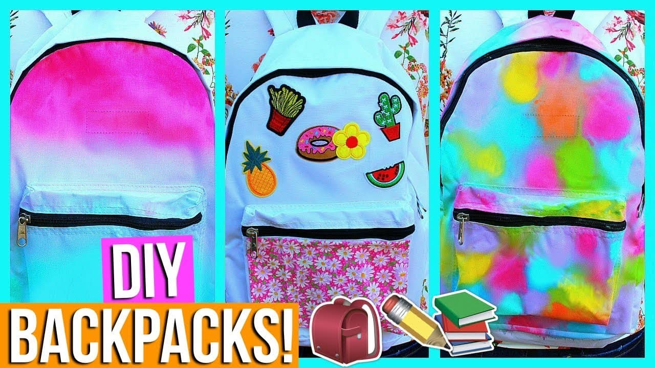 Dyed backpacks