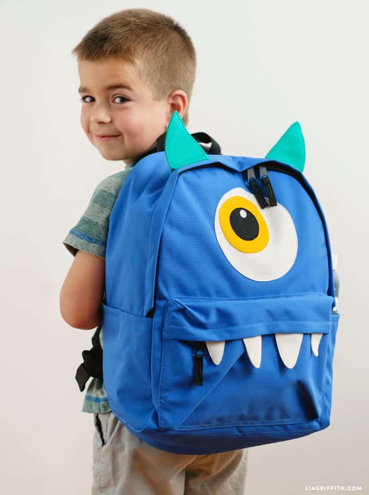 Funny monster backpacks