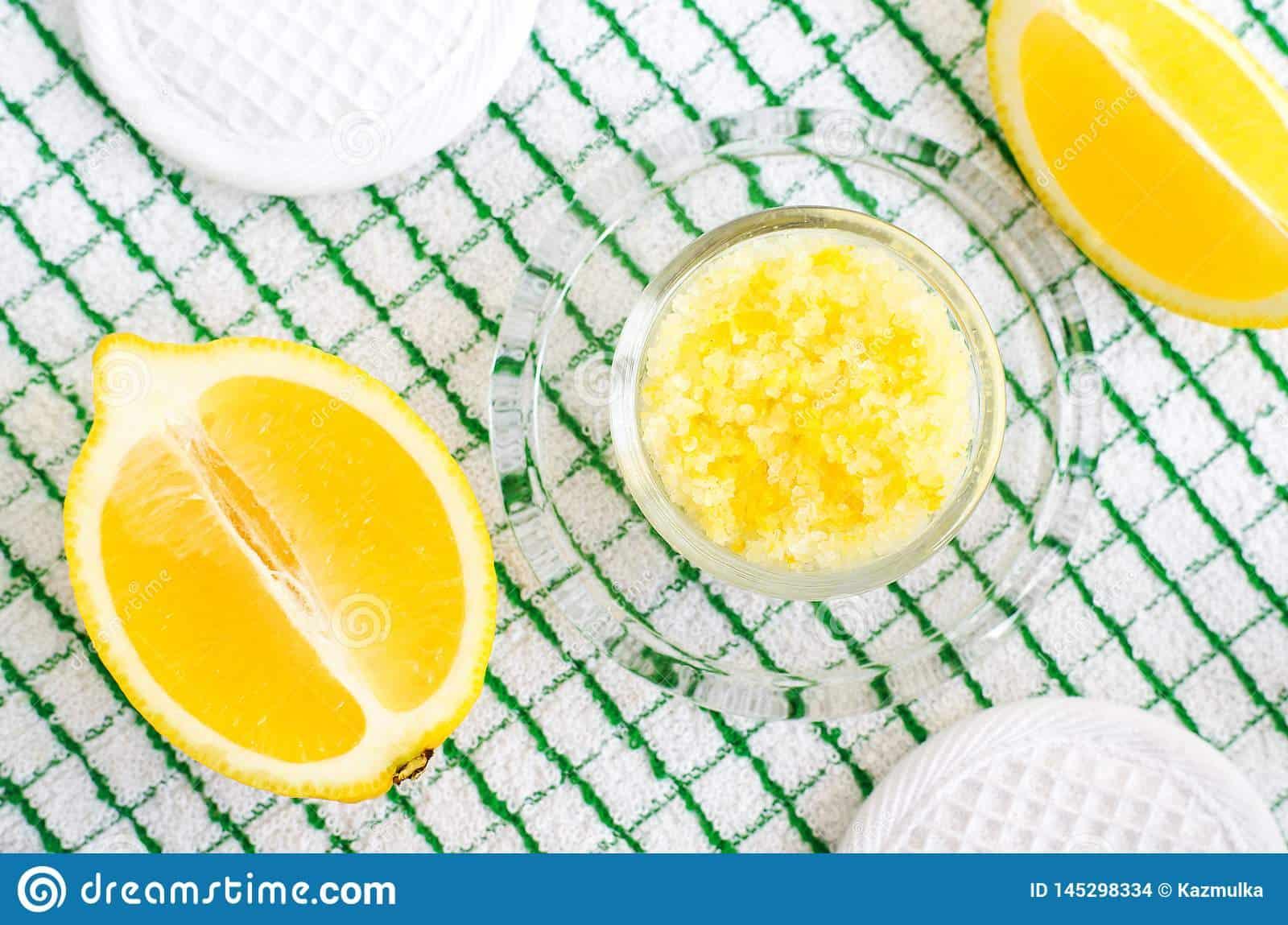 Homemade lemon foot soak