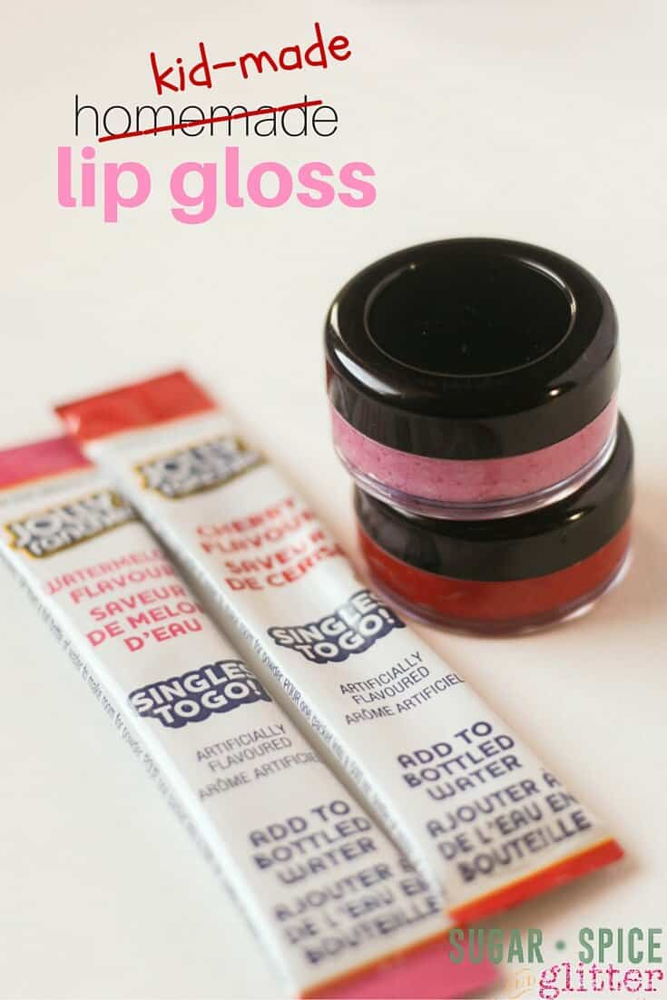 Kid-made Jolly Ranchers lip gloss