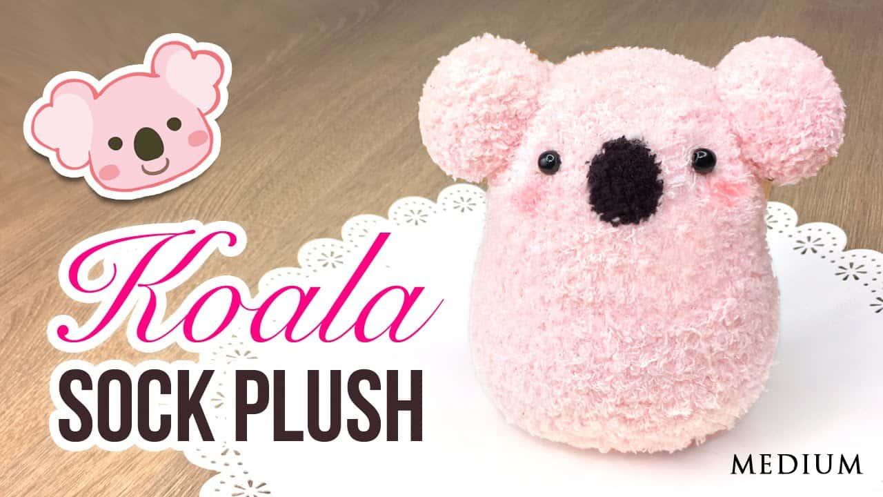 Koala sock plush 15 Cute DIY Plush Toys for Homemade Buffs
