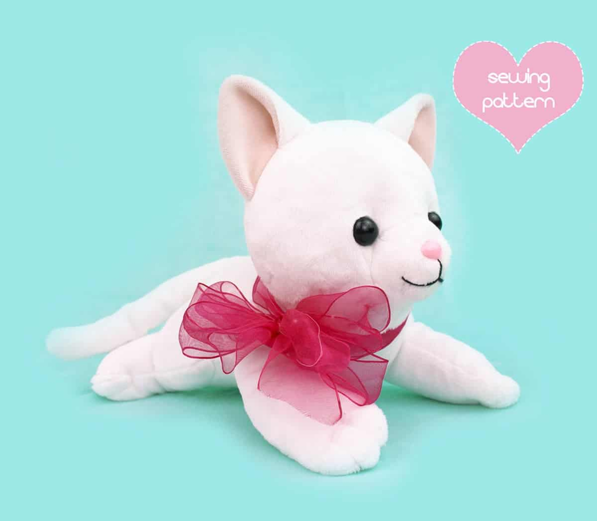 Laying cat toy 15 Cute DIY Plush Toys for Homemade Buffs