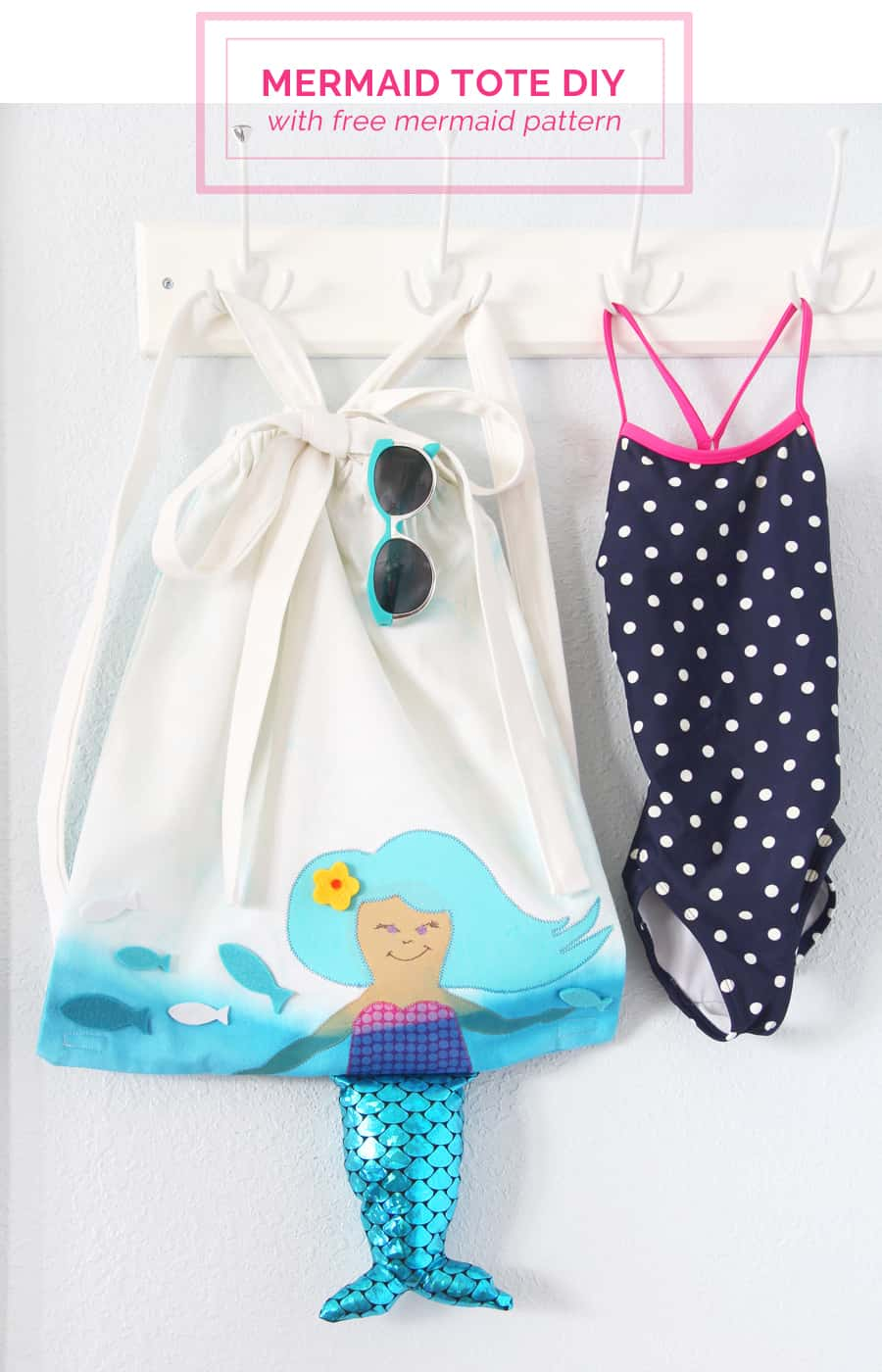 Mermaid drawstring backpack