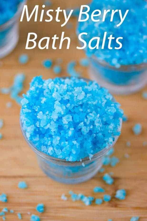 Misty berry bath salts