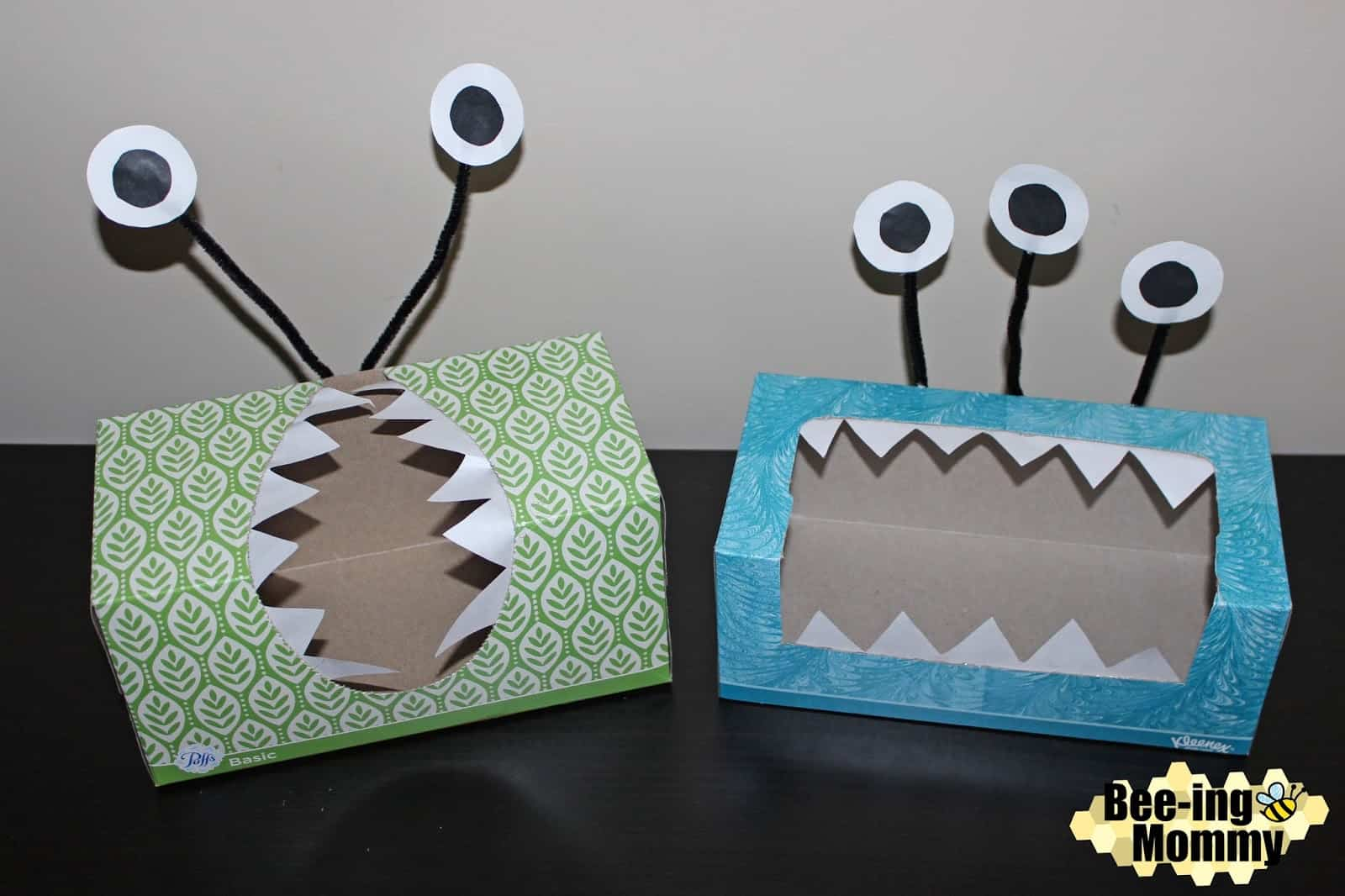 Monster tissue box craft