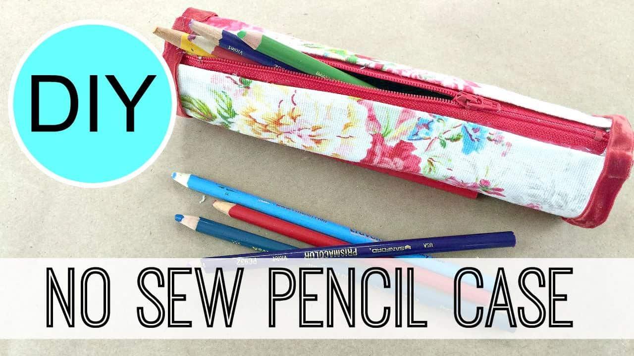 No-sew cylinder pencil case