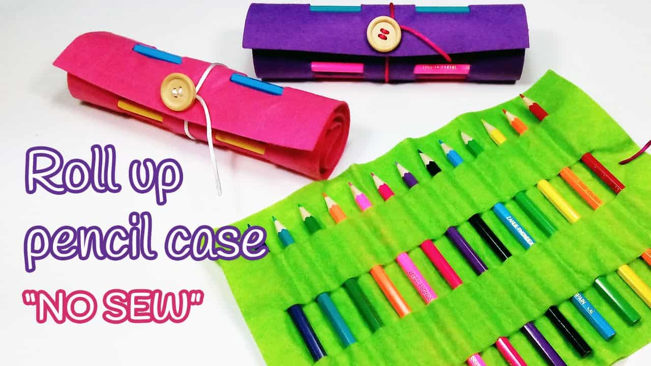 No-sew roll up pencil case