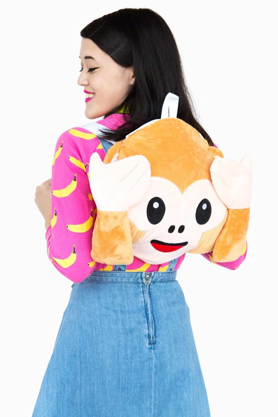 Plush pillow monkey backpack