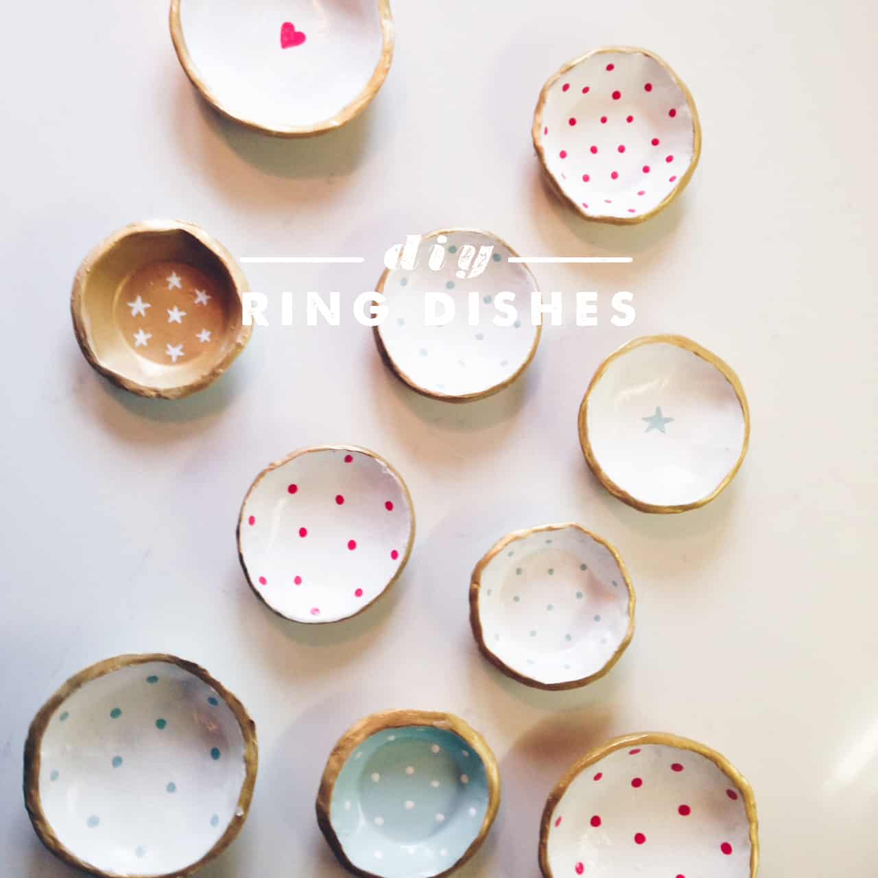 Polka dotted clay dishes How to Make Clay Dishes: 15 Great Tutorials