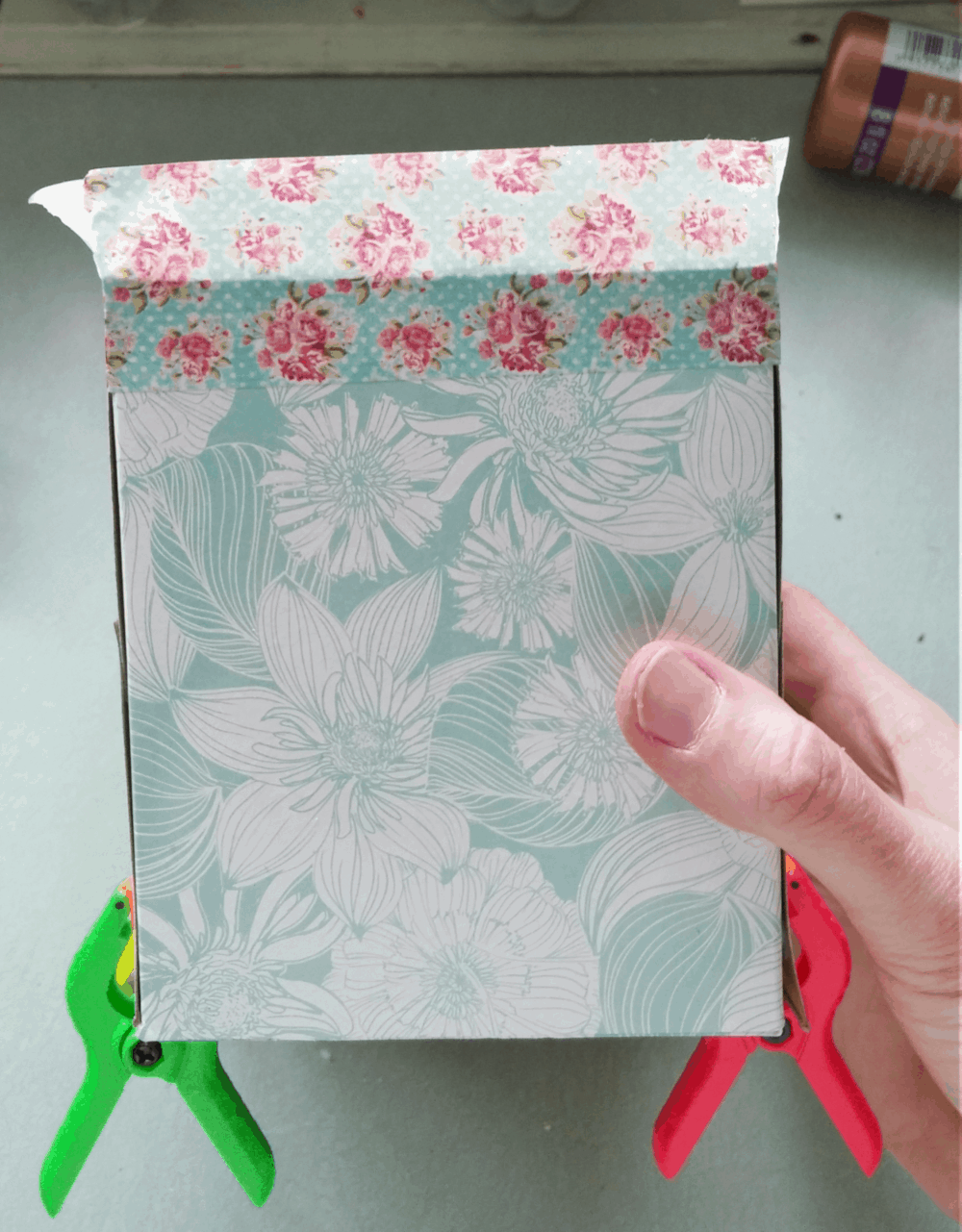 Recycled tissue box Easter basket