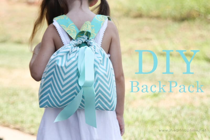 Ribbon drawstring backpack