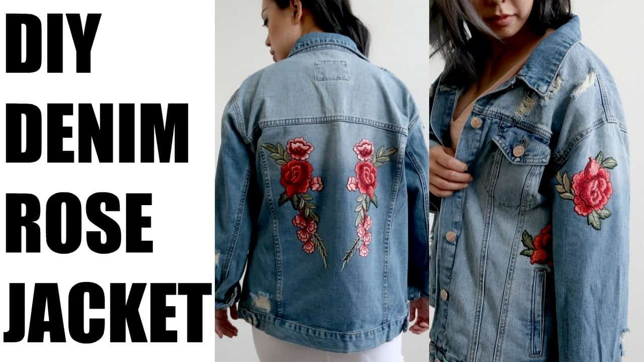Rose patch jacket 15 Best DIY Denim Jacket Projects to Try