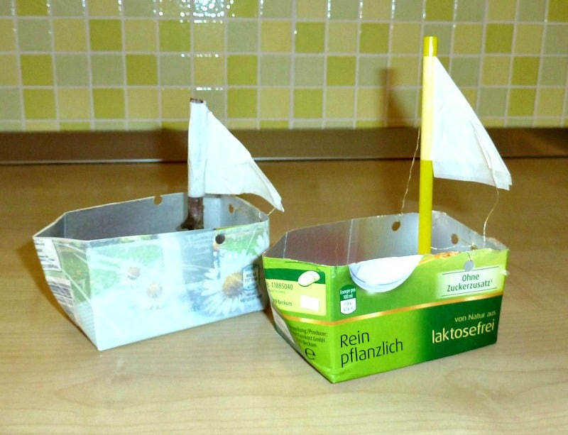 Tissue (and other) box sailboats