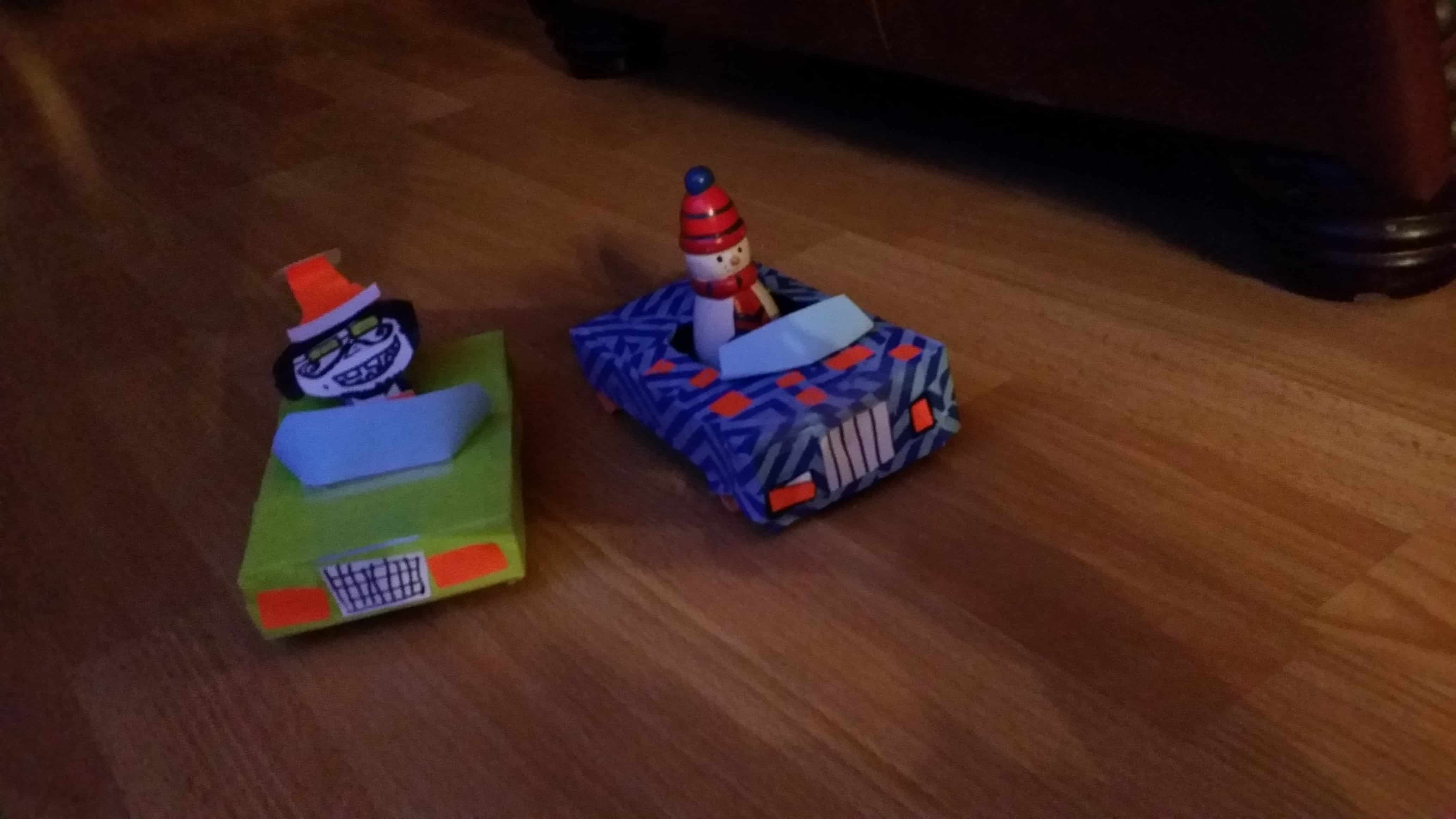 Tissue box car craft
