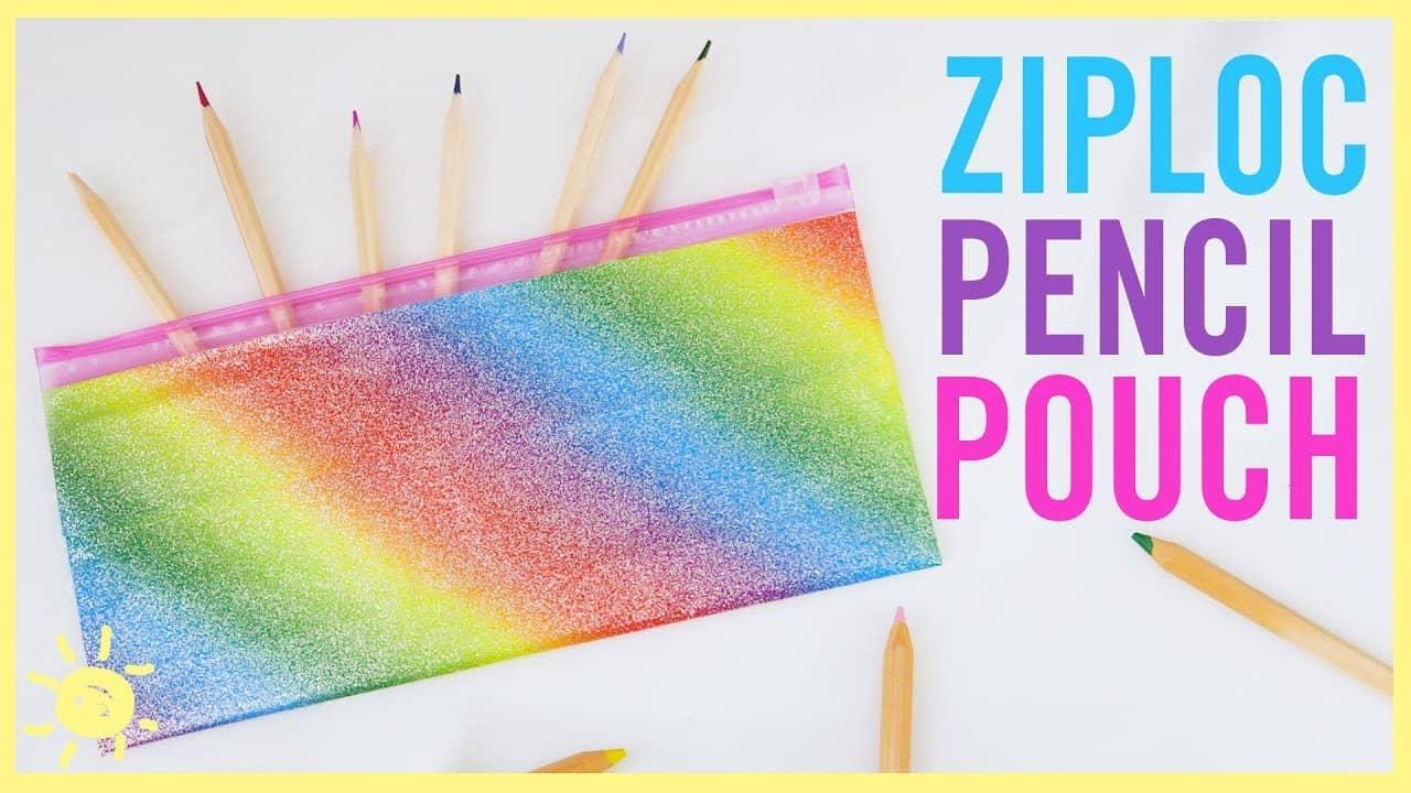 Ziploc pencil pouch