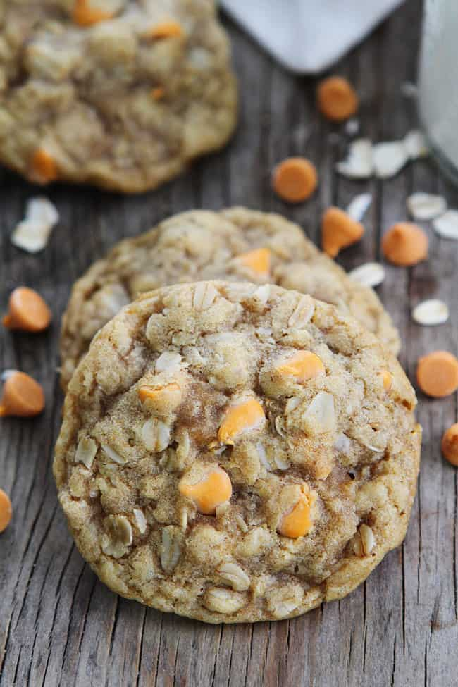 Brown butter butterscotch oatmeal cookies