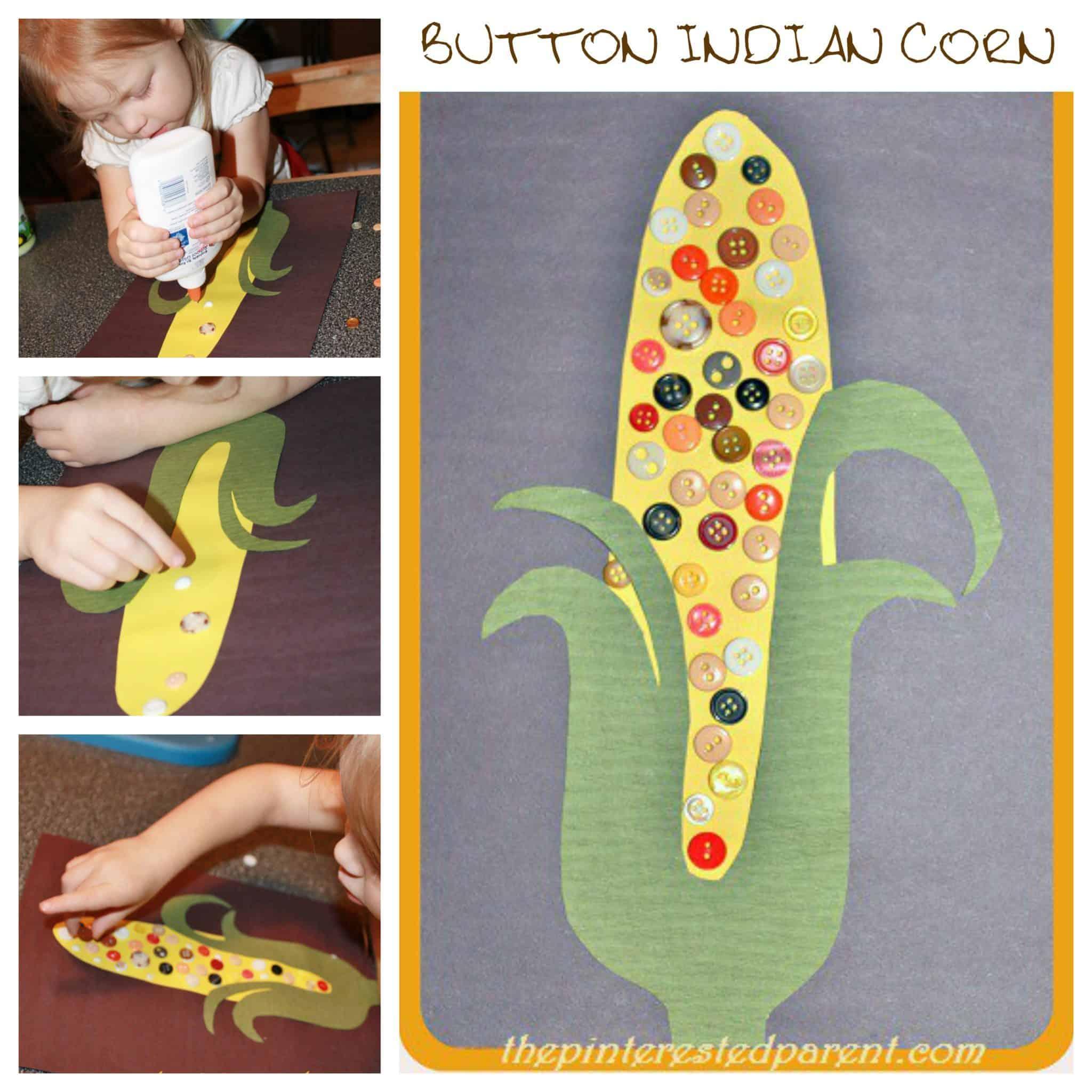 Button corn cob