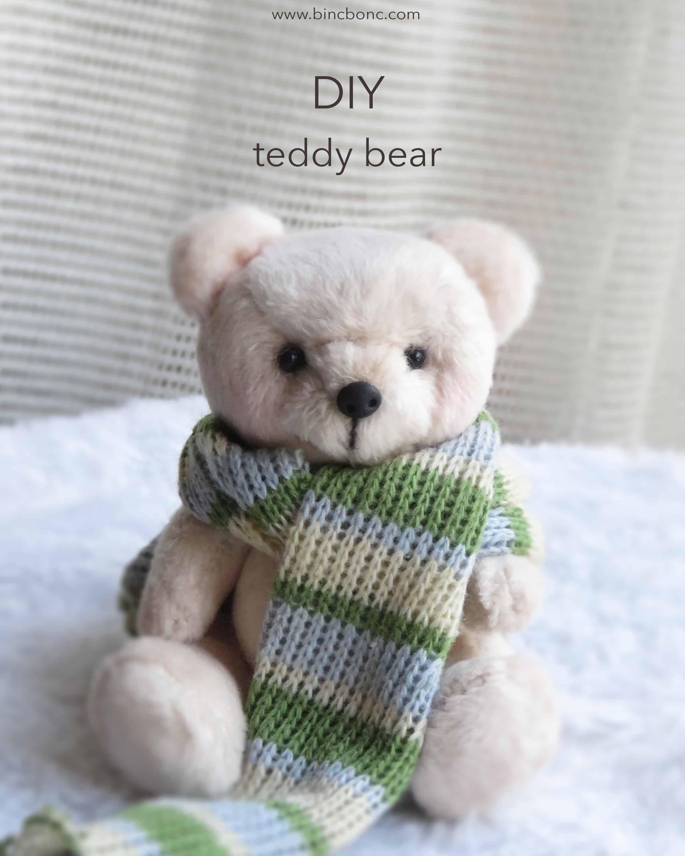 DIY faux fur teddy bear