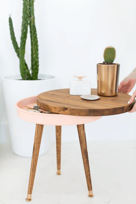 DIY mid-century side table