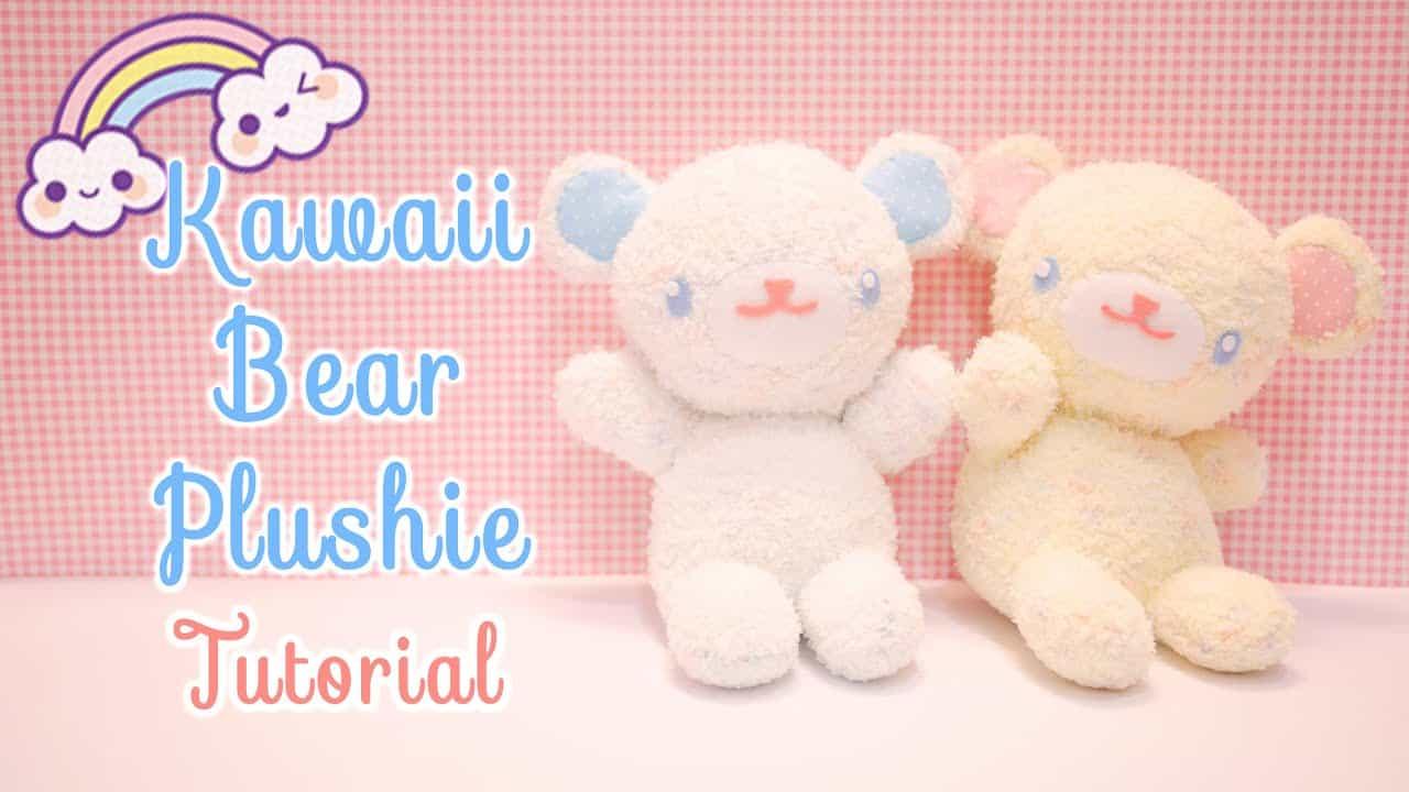 Fuzzy kawaii bear plushie