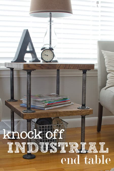 Knock-off industrial side table