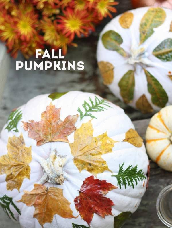 Lead decoupaged fall pumpkins