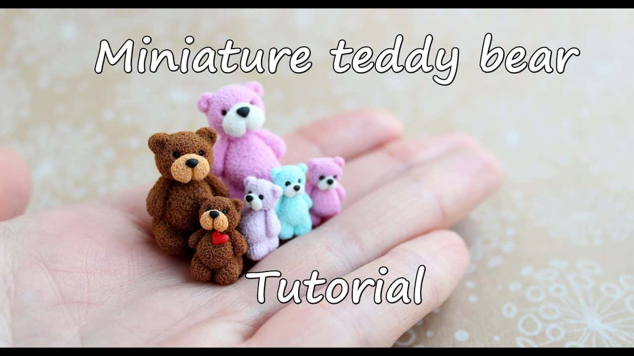 MIniature polymer clay teddy bears 15 Cute Homemade Teddy Bears (Tutorials Included)