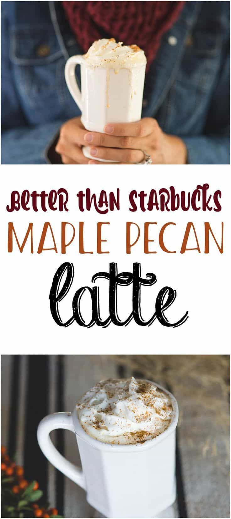 Maple pecan latte 15 Best Coffee Recipes for Fall that Taste Delicious
