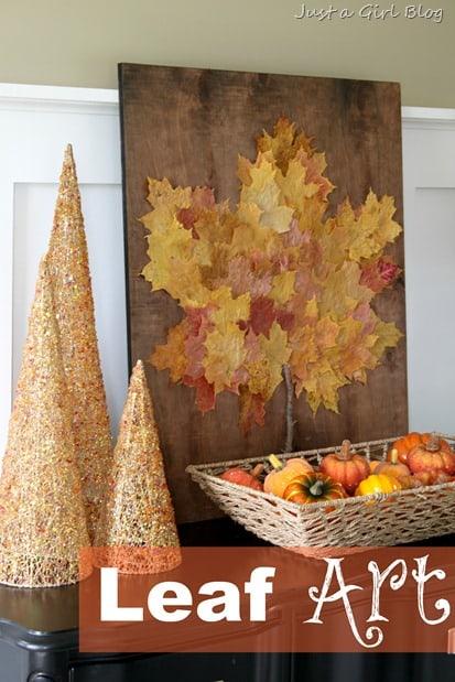 Oversized leaf artwork