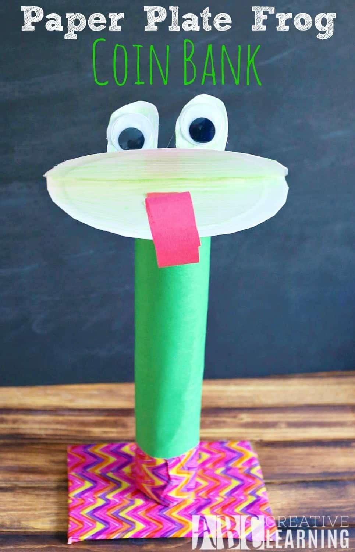 Paper plate frog bank 15 Best DIY Piggy Bank Ideas
