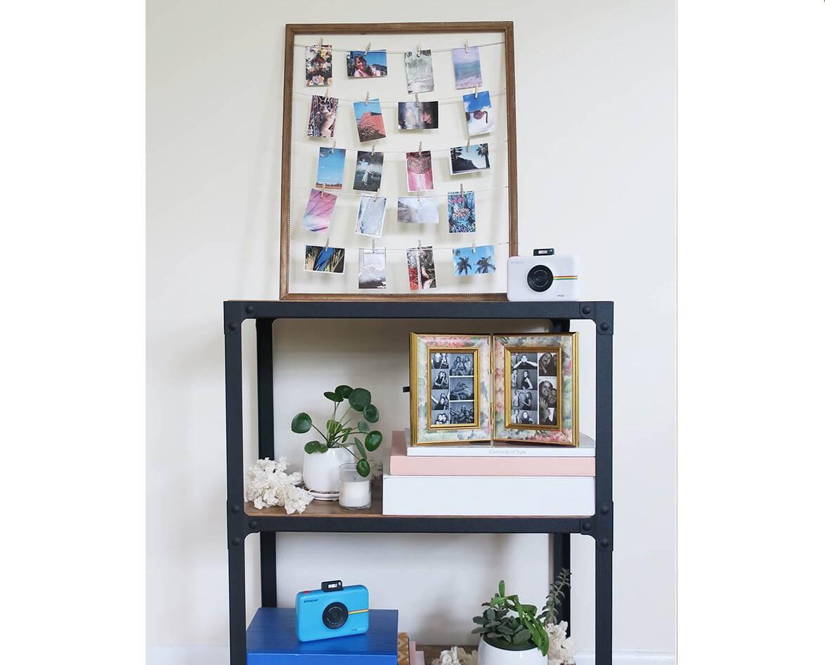 Polaroid clothesline frames