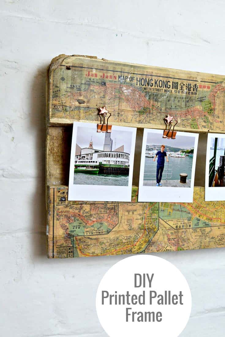 Printed map and clips frame