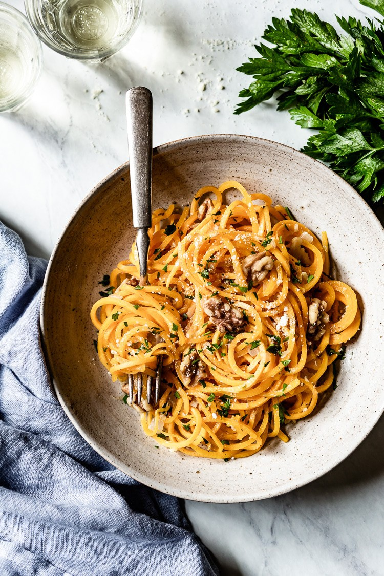 Six ingredient butternut squash noodles