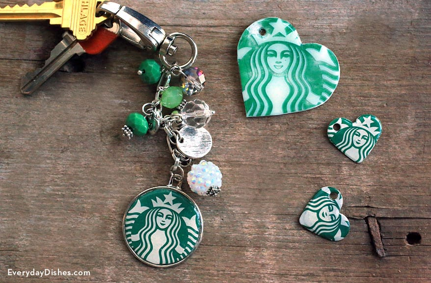 Starbucks inspired keychains