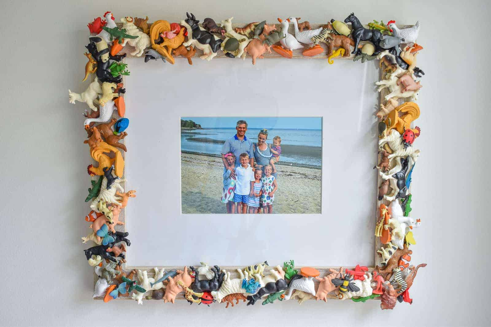 Toy animals photo frame