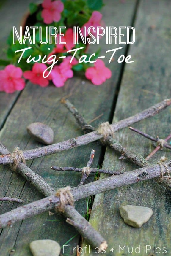 Twig Tac Toe 15 Cute Branches, Sticks, and Twigs Crafts