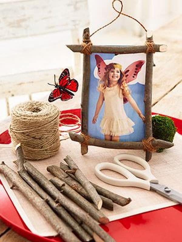 Twig and twine photo frame