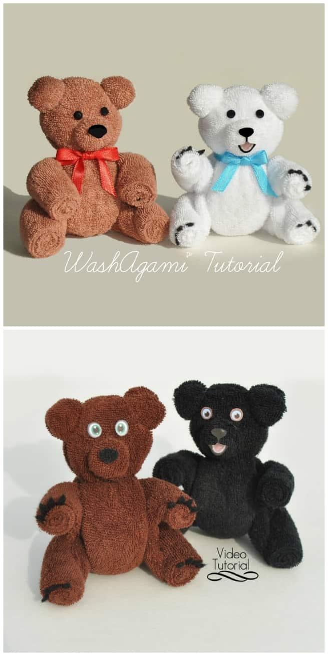 Wash cloth teddy bears