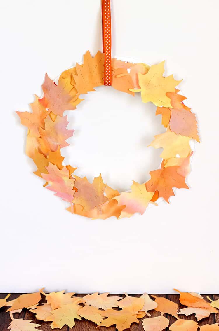 Watercolour leaf wreaths