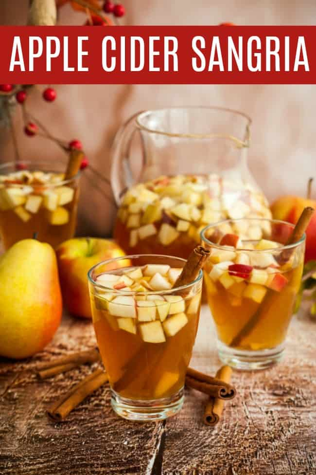 Apple cider sangria 15 Fall Flavoured Drinks You Will Love
