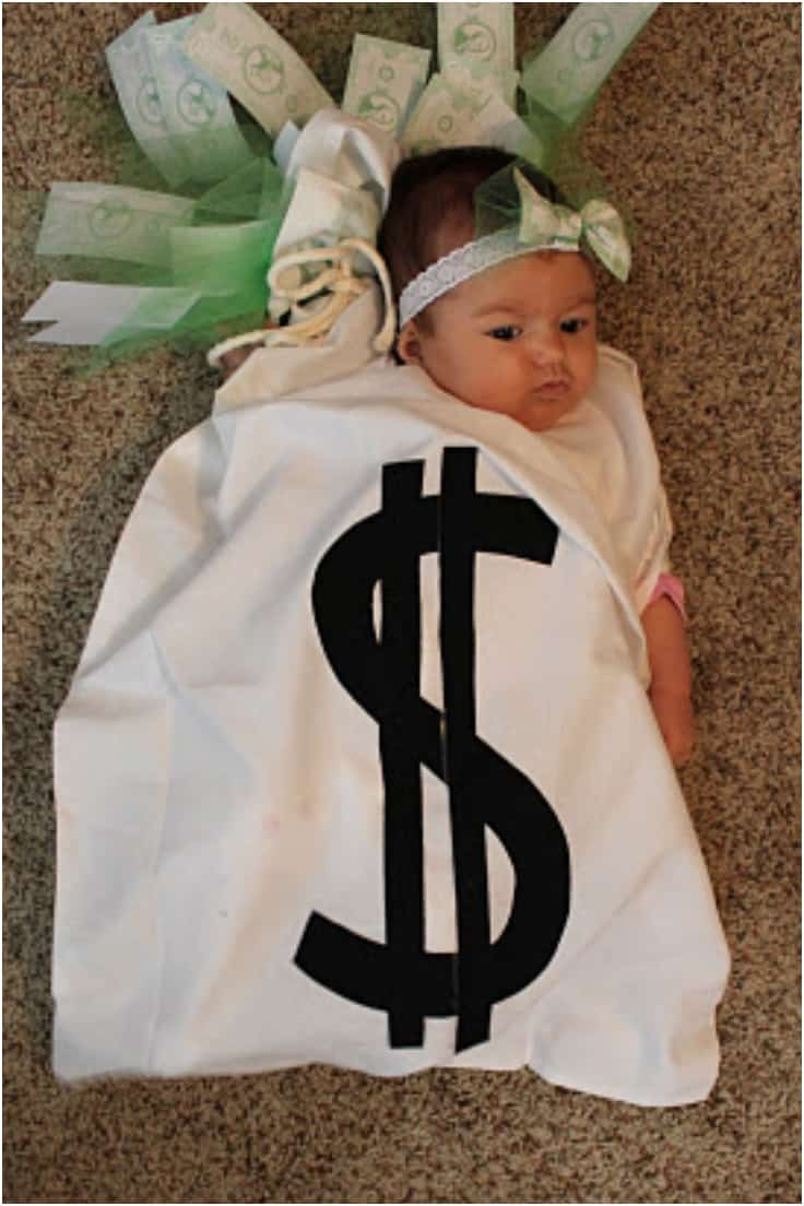 Baby robbery money bag
