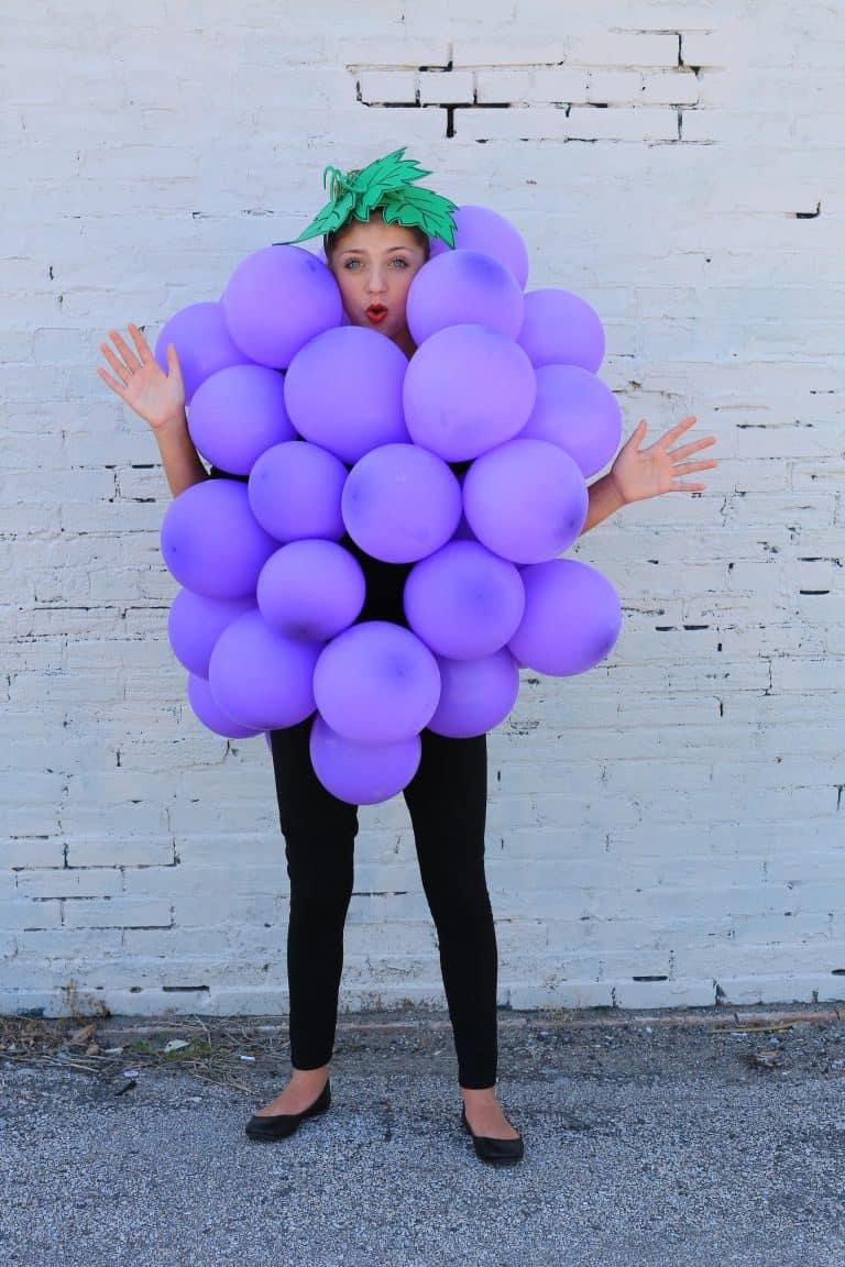 Balloon grapes costume