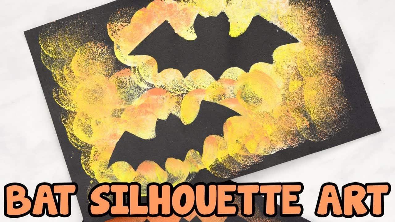 Bat silhouette art