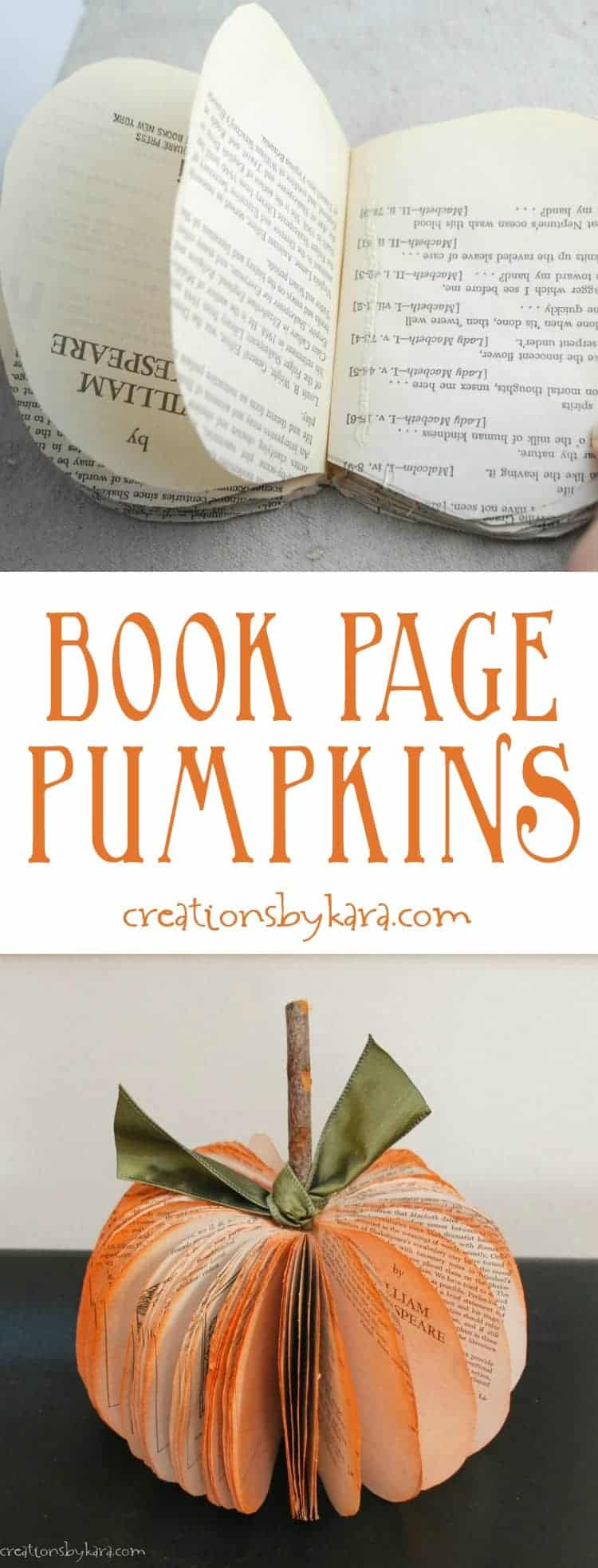 Book page pumpkin 15 Awesome Halloween Home Decor for Inside and Out