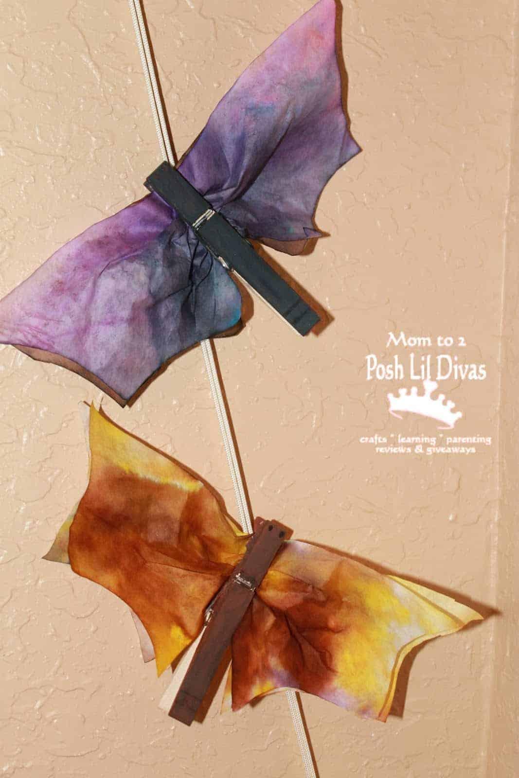 Coffee filter spray art bats
